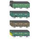 K156 fourgon à bagages PLM DP à 3 essieux