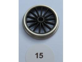 1 essieu de bissel à roues 14 rayons de 15mm