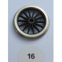 1 essieu de bissel à roues 14 rayons de 16mm