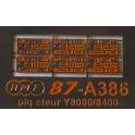 A386 6 plaques constructeur pour Y8000 et Y8400
