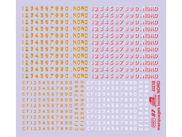 Numérotations pour locomotives Nord