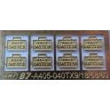 4 jeu de 2 plaques d'immatriculation pour 040TX