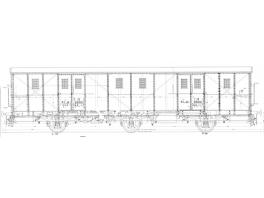 K157 fourgon à bagages PLM Ed à 3 essieux