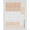 Planche déco chiffres de classes et inscriptions diverses