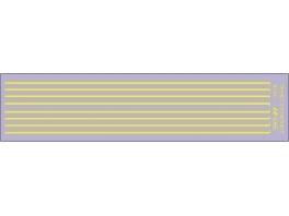 Bandes de 1ère classe jaune jonquille avec séparateur