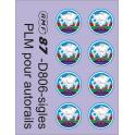 8 monogrammes PLM Mer/Montagne pour autorails