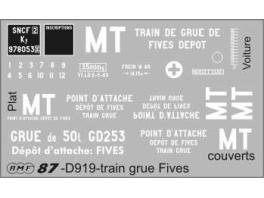 Déco train de secours de Fives SNCF