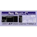 Déco citerne Paul Millet pour citerne 2 essieux