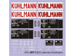 Déco pour 2 citernes Kuhlmann SNCF
