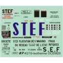 Déco pour wagon Isotherme STEF et SEF Etat et SNCF
