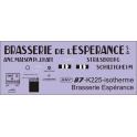 Déco isotherme Brasserie de l'Esperance SNCF