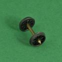 1 essieu à roues à rayons pour wagons ou voitures Fleischmann ou Roco RP25/cde88