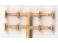 4 tampons à plateaux ronds pour voitures PLM