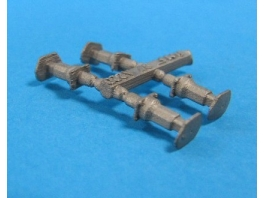 4 tampons type DEV à fut carré en bronze