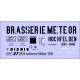 Déco isotherme Brasserie Météor SNCF ép3 1946/1960 (noir fond blanc)