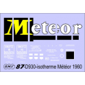 Déco isotherme Brasserie Météor SNCF ép3 1960/1968 (jaune fond bleu)