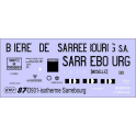 Déco isotherme Brasserie Bière de Sarrebourg SNCF ép3 (noir fond blanc)
