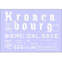 Déco isotherme Brasserie Kronenbourg SNCF ép3 (blanc fond rouge)