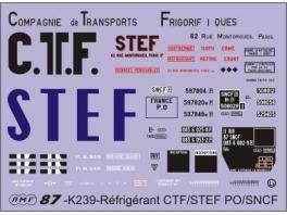 Déco isotherme/réfrigérant CTF/STEF PO/SNCF ép2 et 3