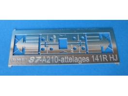 2 attelages NEM à élongation en kit pour 141R