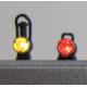 4 lanternes anciennes fonctionnelles rouge
