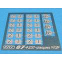 Plaques de classe autorail RGP et RTG ETG